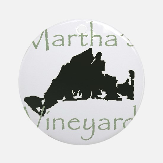 marthasvineyard Round Ornament