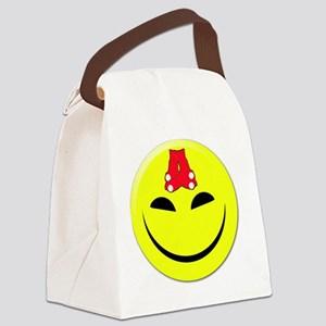 smileyredsox Canvas Lunch Bag