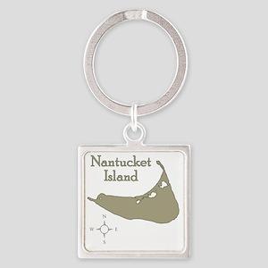 nantucketisland Square Keychain