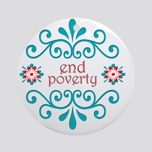 endpoverty Round Ornament