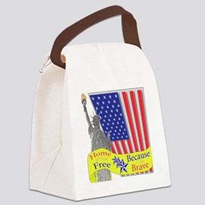 homeofthefree1 Canvas Lunch Bag