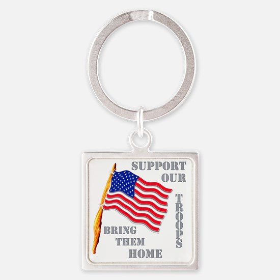supportourtroops Square Keychain