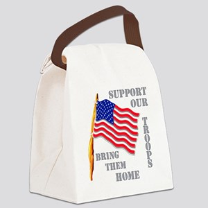 supportourtroops Canvas Lunch Bag