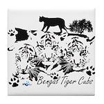 Bengal Tiger cubs Tile Coaster