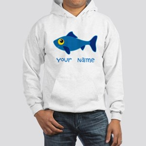 Personalized Fish Fisherman Hooded Sweatshirt