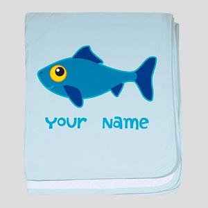 Personalized Fish Fisherman baby blanket