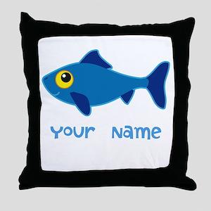 Personalized Fish Fisherman Throw Pillow