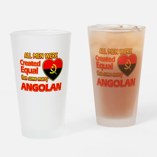 Angolan Wife Designs Drinking Glass