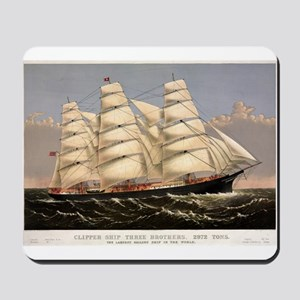 Clipper ship Three Brothers - 1875 Mousepad