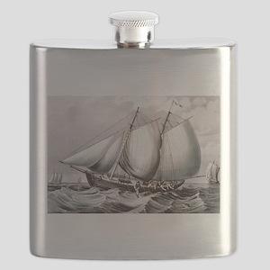 Cod fishing-off Newfoundland - 1872 Flask