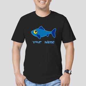 Personalized Fish Fisherman Men's Fitted T-Shirt (