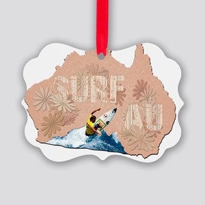 surf australia Picture Ornament