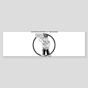 Grammar Police Bumper Sticker