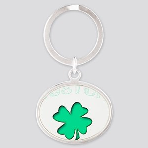 bostonclover2 Oval Keychain