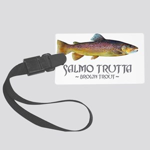 browntroutslamotrutta Large Luggage Tag