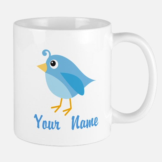 Personalized Blue Bird Mug