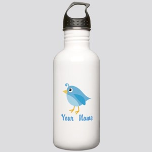 Personalized Blue Bird Stainless Water Bottle 1.0L