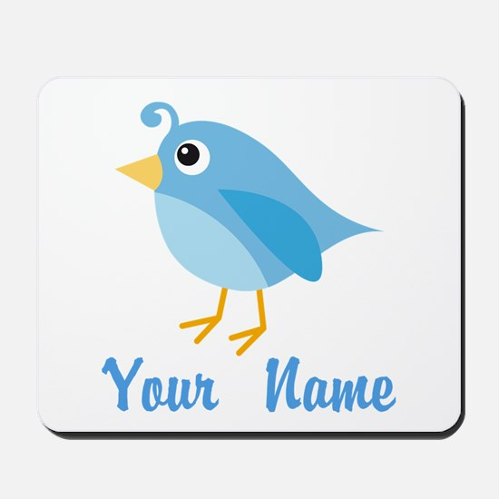Personalized Blue Bird Mousepad