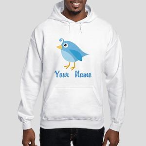 Personalized Blue Bird Hooded Sweatshirt