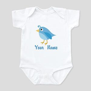 Personalized Blue Bird Infant Bodysuit