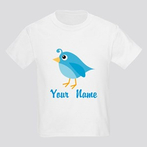 Personalized Blue Bird Kids Light T-Shirt