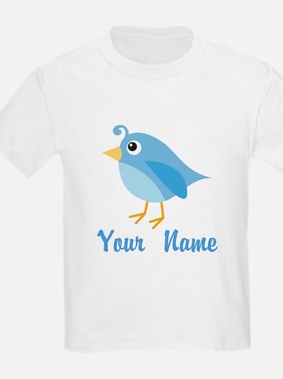 Personalized Blue Bird T-Shirt