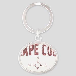 capecodcompass Oval Keychain