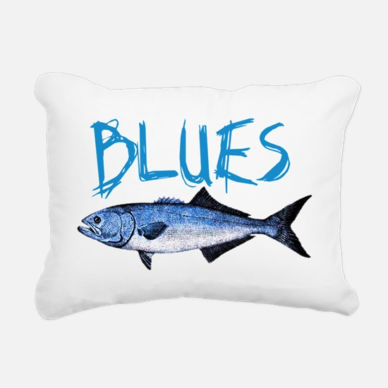 blues Rectangular Canvas Pillow
