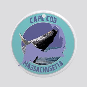 2-ccwhale Round Ornament