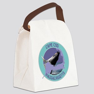 2-ccwhale Canvas Lunch Bag