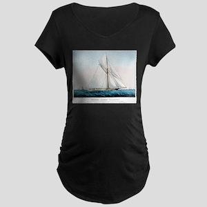 Cutter Yacht Thistle - 1887 Maternity Dark T-Shirt