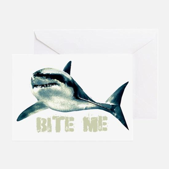 bitemeshark Greeting Card