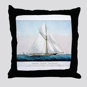 Cutter Yacht Thistle - 1887 Throw Pillow