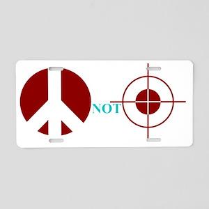 peacenotgunsights Aluminum License Plate
