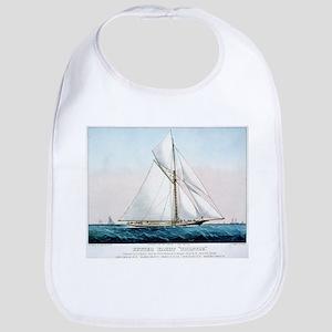 Cutter Yacht Thistle - 1887 Cotton Baby Bib