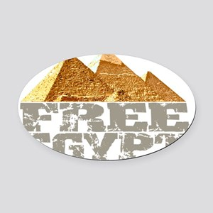 freeegypt Oval Car Magnet