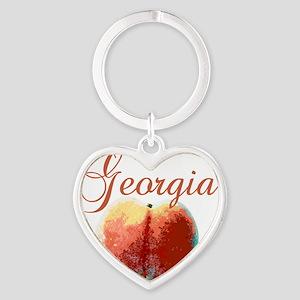 georgiapeach Heart Keychain