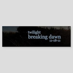 twilightbreakingdawnbeachgrassdry Sticker (Bumper)