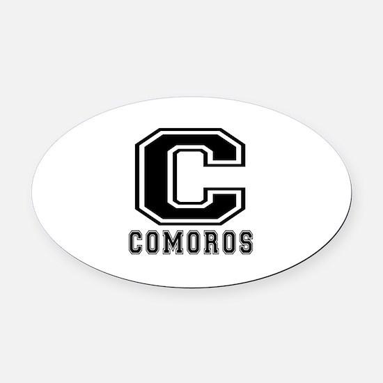 Comoros Designs Oval Car Magnet