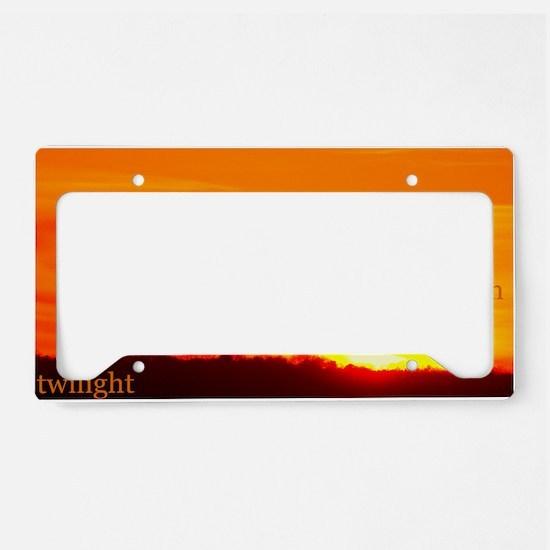 twilightbreakingdawnsunrisebe License Plate Holder