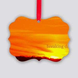 twilightbreakingdawnsunrise11x17 Picture Ornament