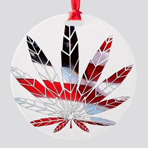 American Weed Round Ornament