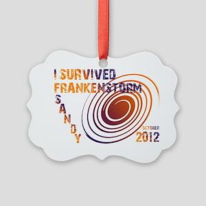 I Survived Frankenstorm Sandy Picture Ornament