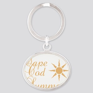 Cape Cod Summer Oval Keychain
