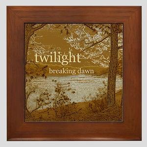 Twilight Breaking Dawn Framed Tile