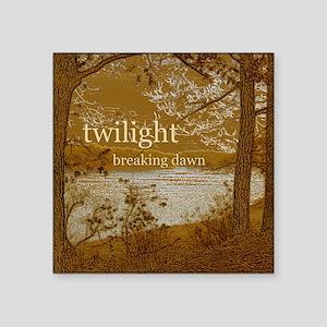 "Twilight Breaking Dawn Square Sticker 3"" x 3"""