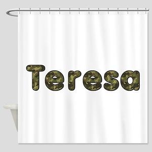 Teresa Army Shower Curtain