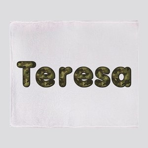 Teresa Army Throw Blanket