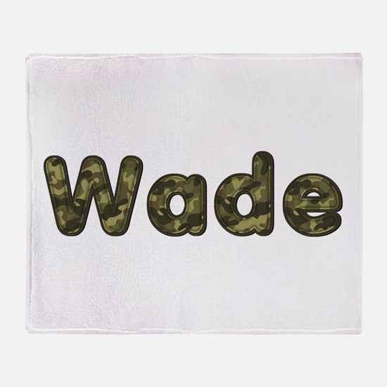 Wade Army Throw Blanket