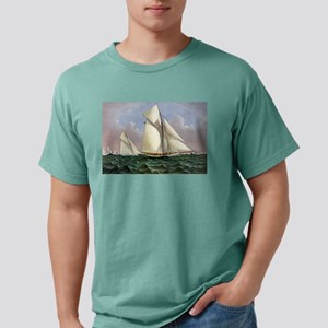 Mayflower saluted by the fleet - 1886 Mens Comfort